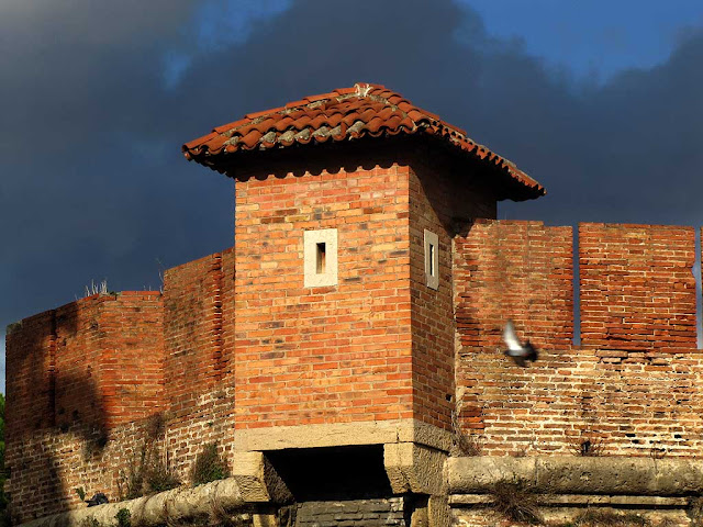 Turret at the entrance of the Fortezza Nuova, Livorno
