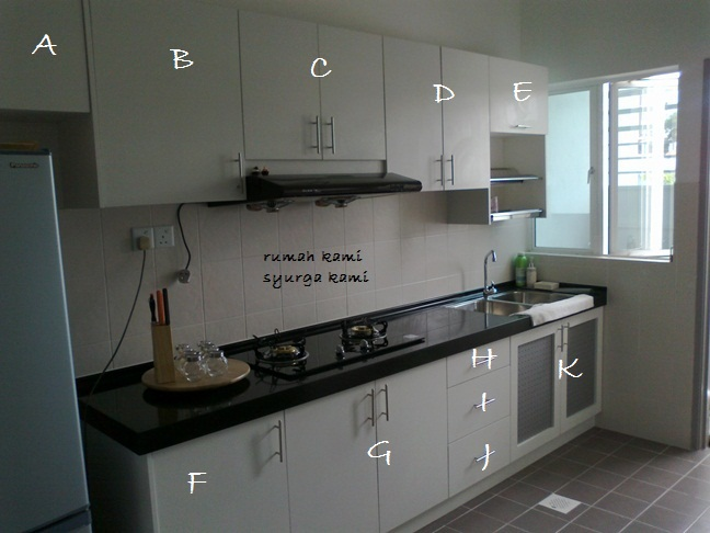 Gambar Kabinet Dapur Yang Saya Labelkan Kat Bawah Ni Secara Ringkas Ruang A B C G Dan K Memerlukan Susun Atur Baru Lain Dah Ok