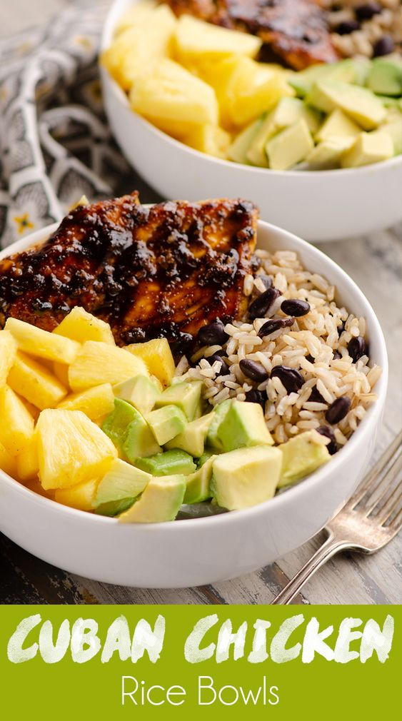 Cuban Chicken Rice Bowl Recipe