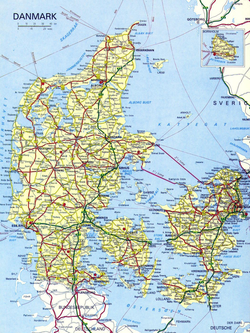 danmark kart On a Mission: Map of Denmark danmark kart