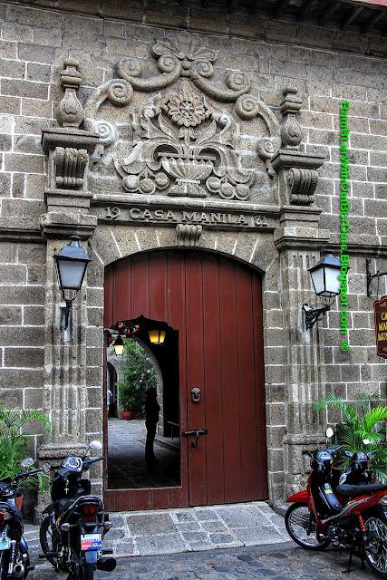 doorway, Casa Manila, Intramuros, Manila, Philippines