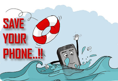 How to save smart phone if dropped in water