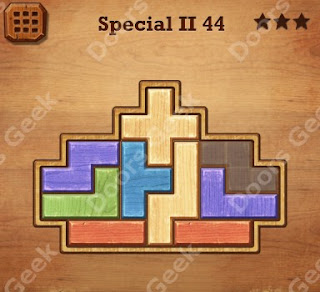 Cheats, Solutions, Walkthrough for Wood Block Puzzle Special II Level 44