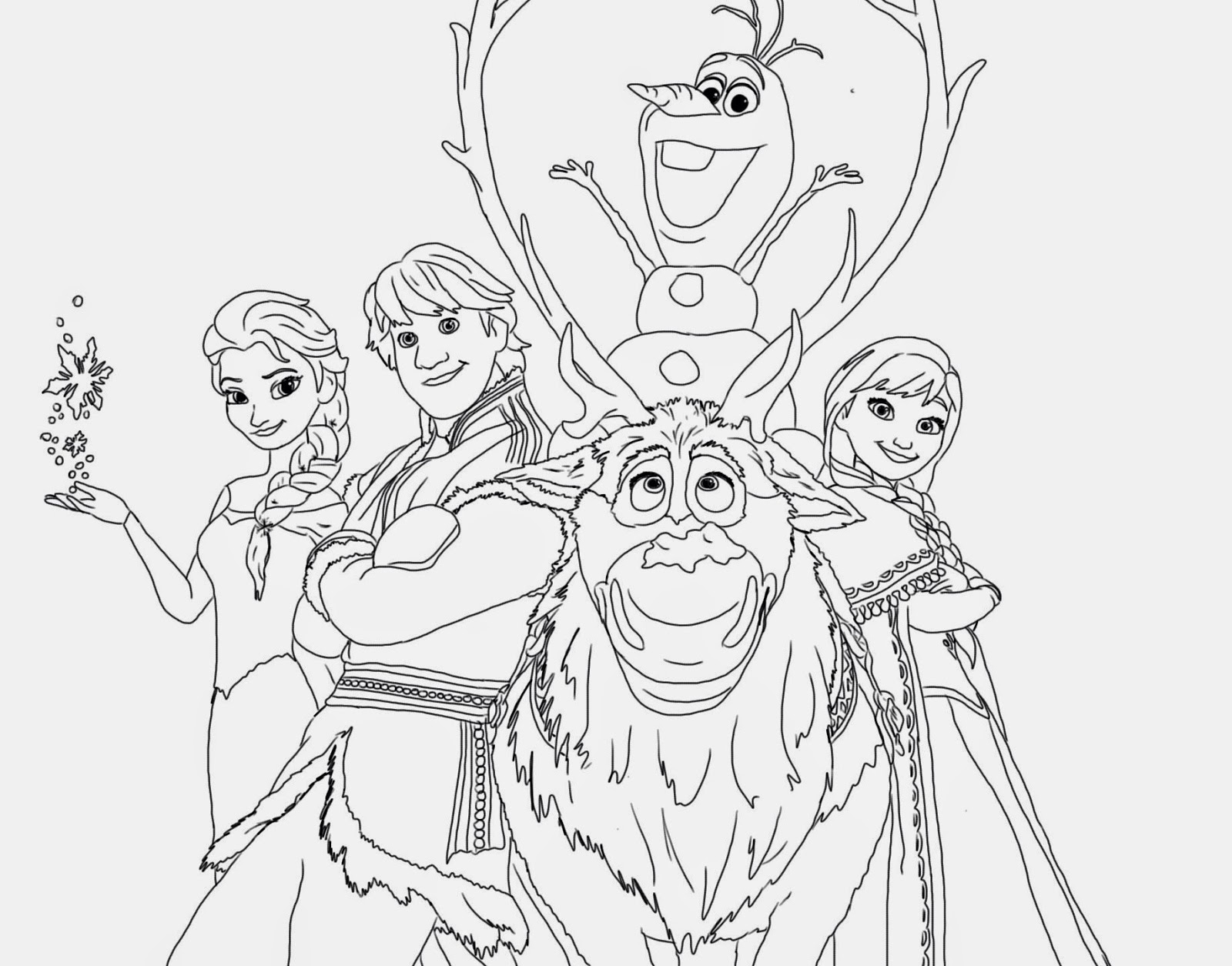 disney frozen printables coloring pages | Oloff From Frozen | Party Invitations Ideas
