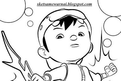 Mewarnai Gambar Kartun Boboiboy