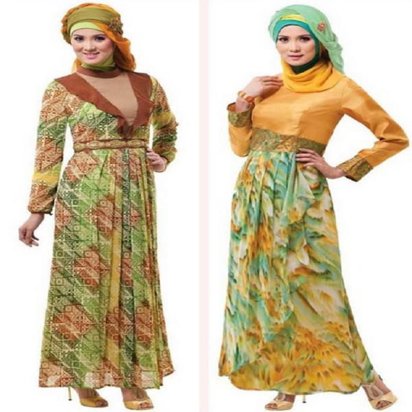 Gambar Baju Gamis Modern Batik Mewah Edisi Terbaru
