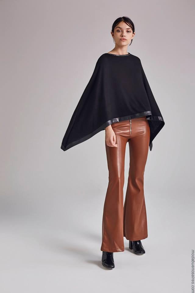 Moda otoño invierno 2019 ropa de mujer elegante y femenina. Pantalones oxford invierno 2019.