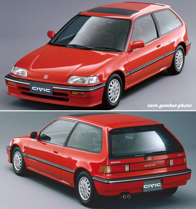 1988 Honda Civic 25X red color - rear