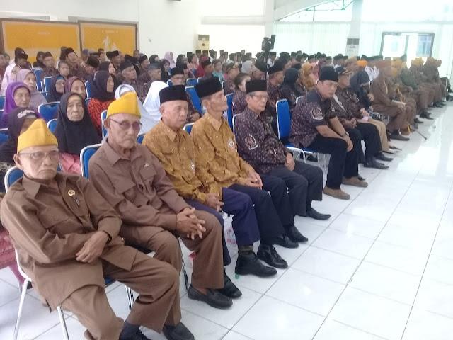 Para veteran yang hadir di acara ramah tama yang digelar Pemkab Asahan.