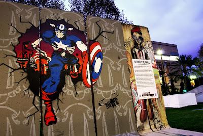 Mural y arte urbano del capitán america