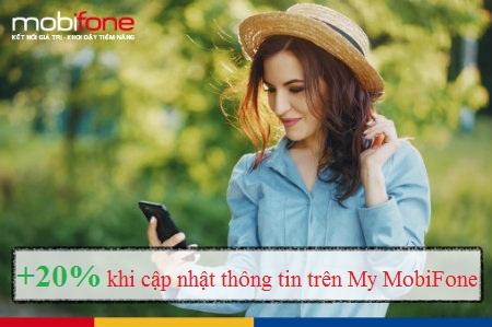 Khuyến mãi đăng ký thông tin MobiFone qua mạng