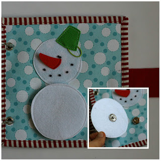 Snowmen quiet book page