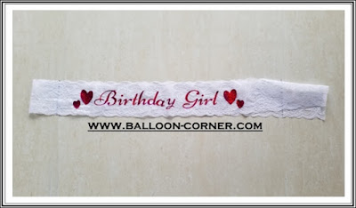 Selempang Renda BIRTHDAY GIRL / Sash Renda BIRTHDAY GIRL