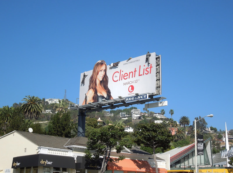 The Client List season 2 mannequin billboard