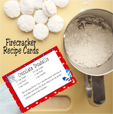 Dress up your Patriotic Recipes with these Firecracker recipe cards. These cards are available in several sizes and will dress up your recipe books beautifully. #firecracker #recipecard #freeprintable #diypartymomblog