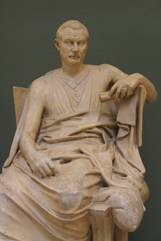 Cast of Menander, seated