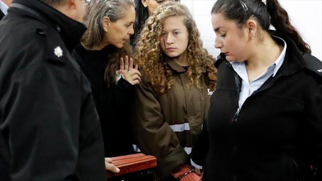 Israel detiene a familiares de famosa joven palestina Tamimi