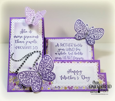 Our Daily Bread Designs Stamp/Die Duos: The Greatest Gift, Paper Collection: Whimsical Wildflowers, Custom Dies: Filigree Frames, Side Step Card, Side Step Layers