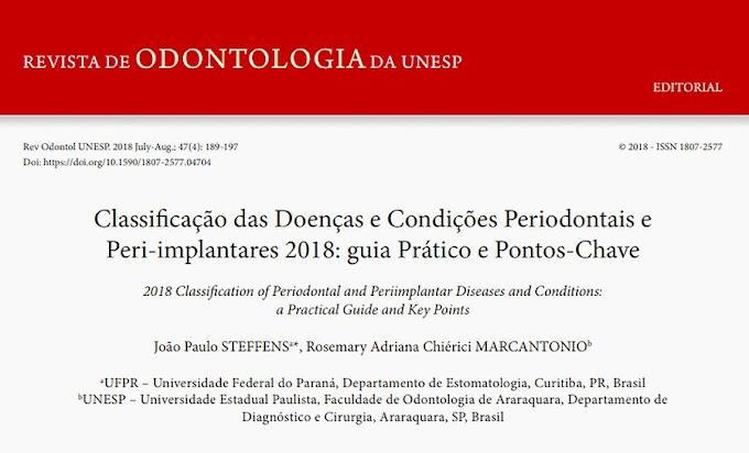 PDF: Classificação das Doenças e Condições Periodontais e Peri‑implantares 2018