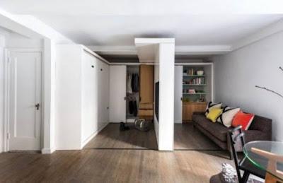 Alternatif Dinding Geser Untuk Apartemen Berukuran Kecil
