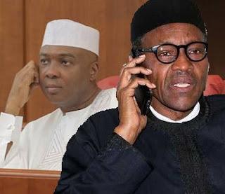 Saraki and Buhari Telephone Chat