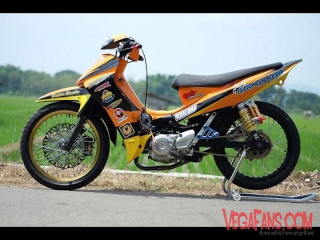 Jupiter Z Kuning Orange Modif Road Race