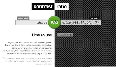 contrast ratio de Lea Verou