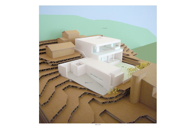 相模湾を望む白い大広間の家 外観