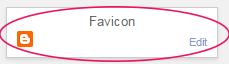 change blogger favicon