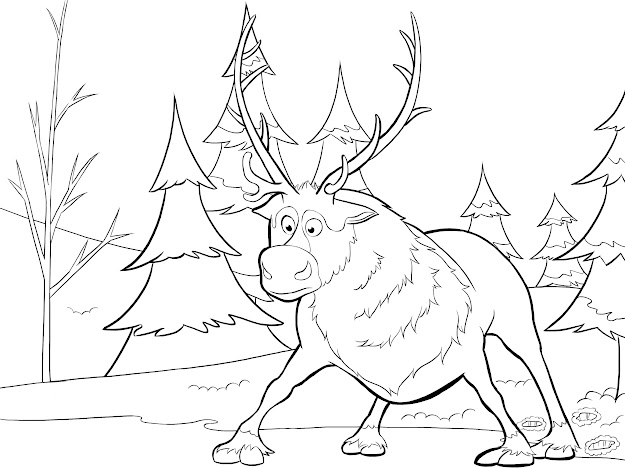 Sven Coloring Page