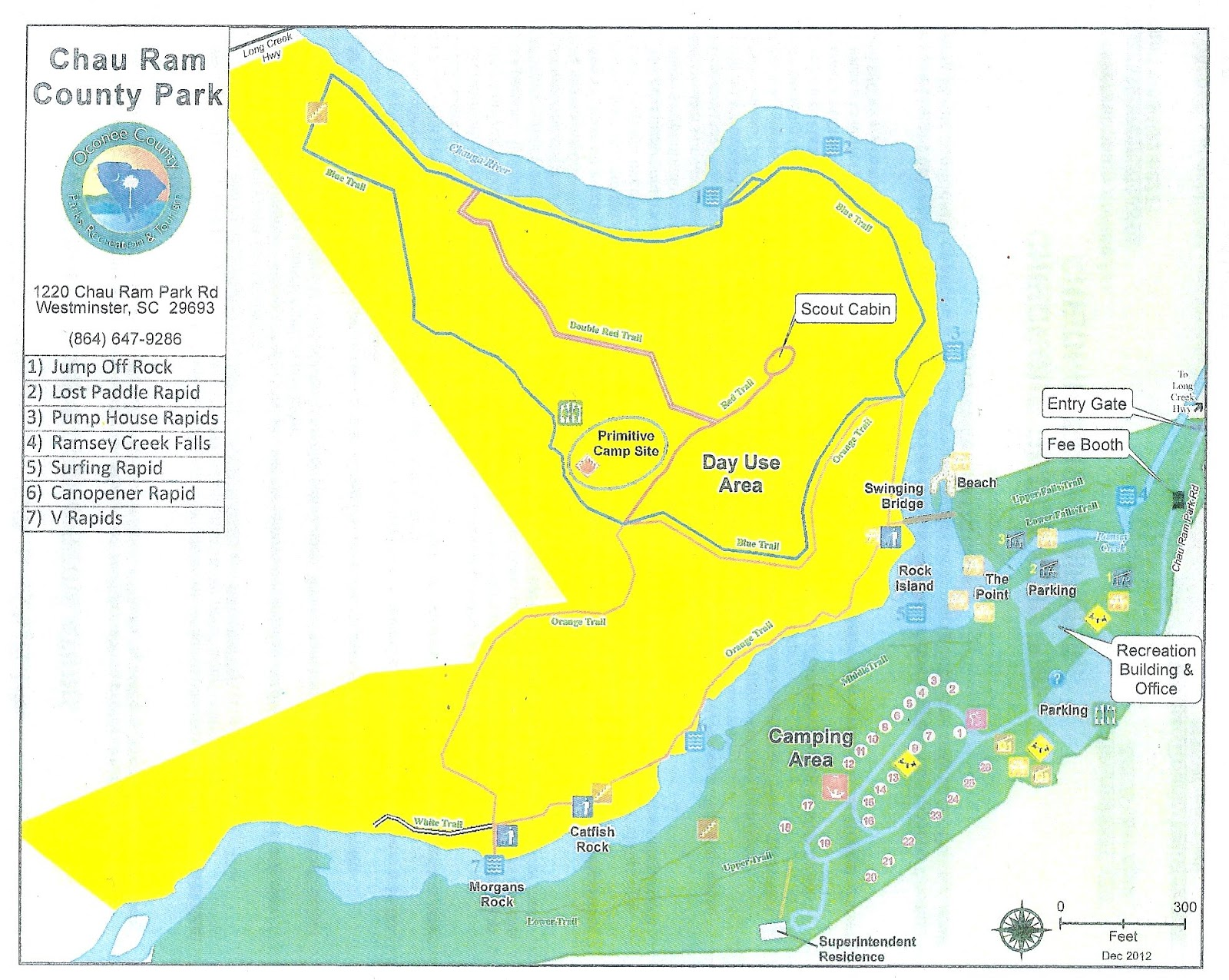 map of chau ram county park