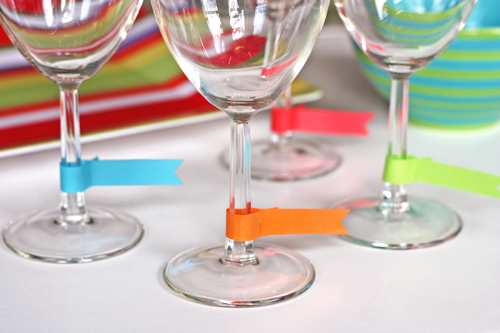 photograph relating to Printable Wine Glass Tags named Wine gl flags: printable template How More than Orange
