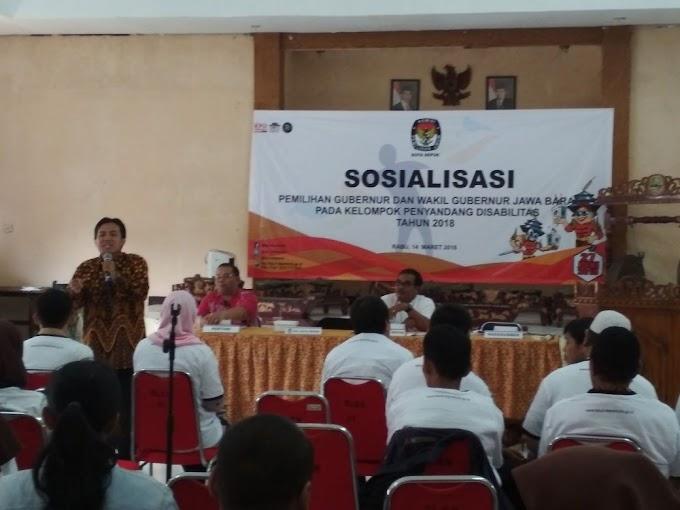 KPUD Depok Sosialisasikan Pilgub Jabar 2018 Ke Penyandang Disabilitas