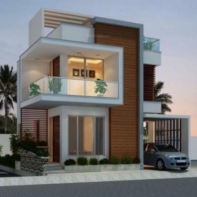 rumah futuristik minimalis 2 lantai