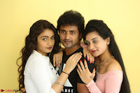 Kiran Chetwani with Janani Iyyer and others at Lakshmi Devi Samarpinchu Nede Chudandi Movie Interview 020.JPG