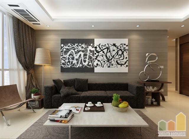 Thiết kế phòng khách đẹp tại chung cư Thanh Hà