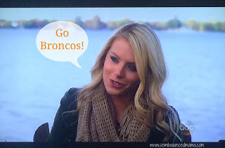 Emily admitting that her dream is to be a NFL cheerleader!