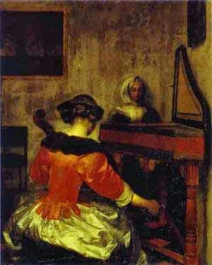 O Concerto - Gerard Terborch ~ Pintor Barroco ~ Holandês
