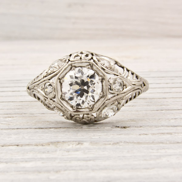 Erstwhile Jewelry Antique Engagement Ring 6182 - {Frosted Find}  Erstwhile Jewelry