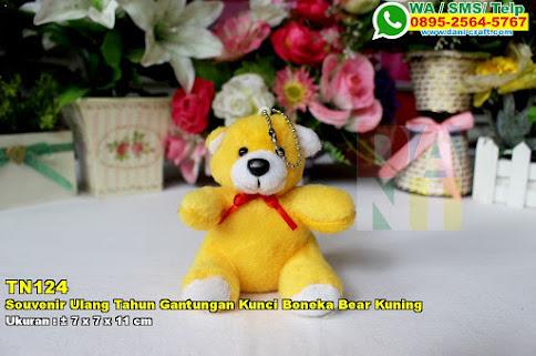 Souvenir Ulang Tahun Gantungan Kunci Boneka Bear Kuning