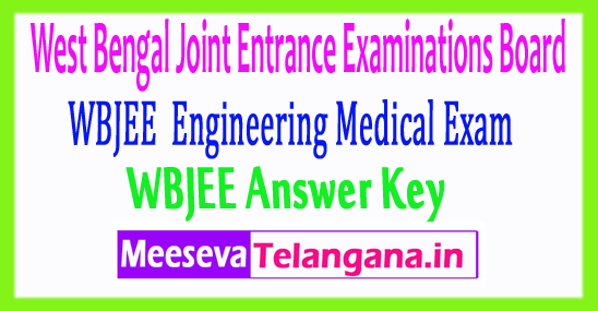 West Bengal Joint Entrance Examinations WBJEE Answer Key 2017 Download