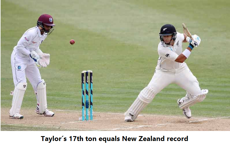 Taylor´s 17th ton equals New Zealand record