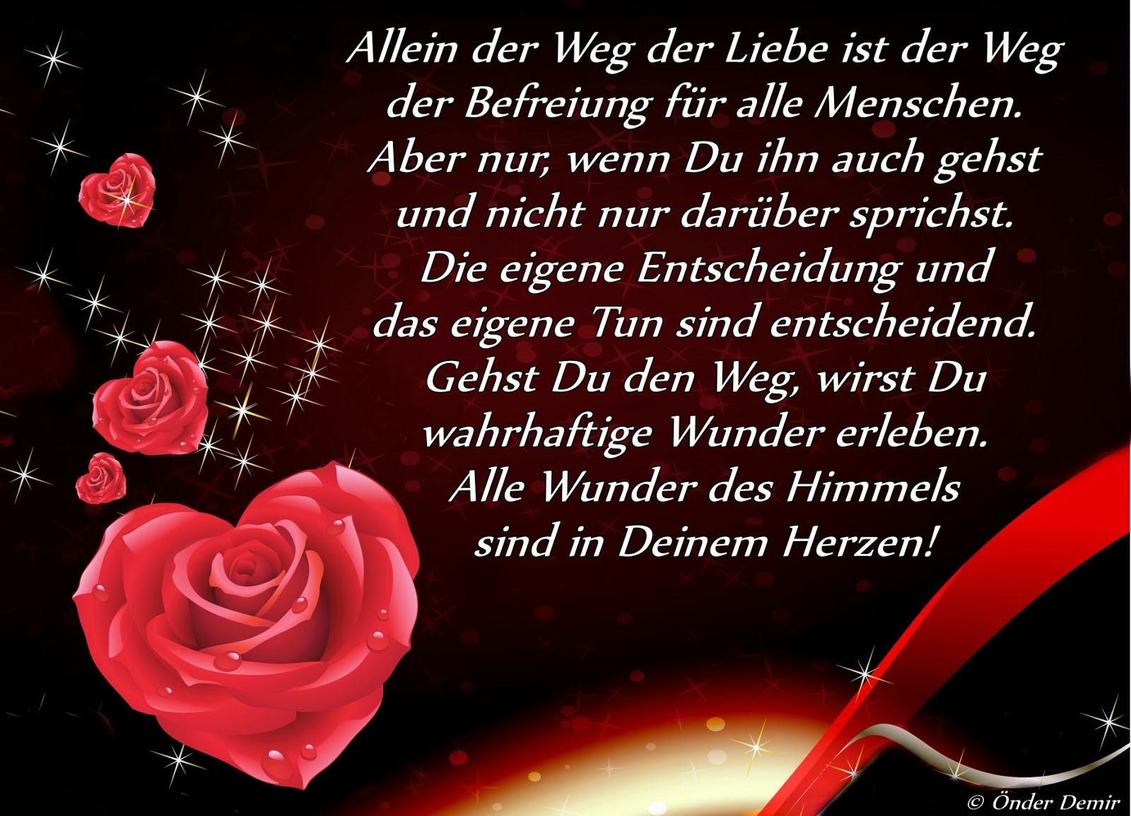 Gedichte Und Liedtexte Von Onder Demir Allein Der Weg Der Liebe