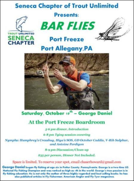 10-19 Seneca Chapter of Trout Unlimited: Bar Flies at Port Freeze