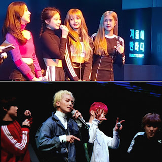 WINNER and BLACKPINK At Adidas Winter Night
