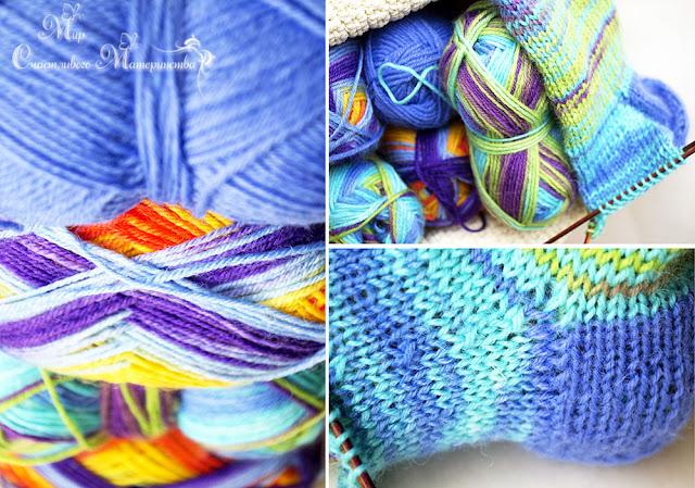 носки из пряжи