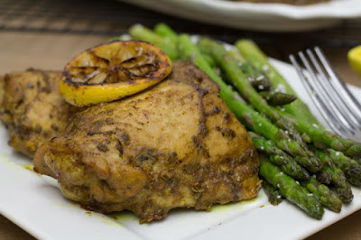Curry Baked Chicken: A flavorful entree of chicken marinated in a curry base and baked to perfection