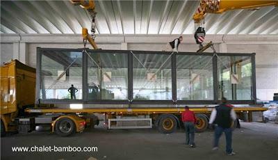 Módulo para la construcción de una casa sobre camión para su entrega