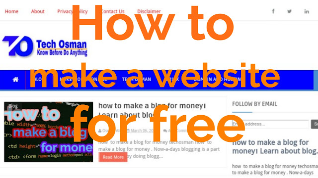 How to make a website for free