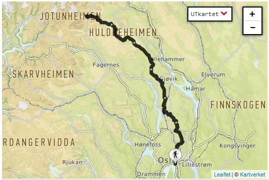 jotunheimstien kart Snøfrost Siberian Husky: Birk har gått Jotunheimsstien, 442km på  jotunheimstien kart